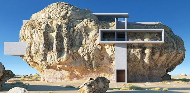 Amey Kandalgaonkar : House in a Rock / Rock House 3