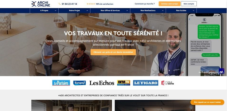 Batiweb rachète la start-up Archionline